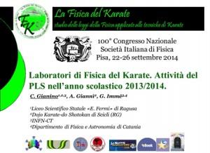 Lab Fisica del karate-SIF 2014